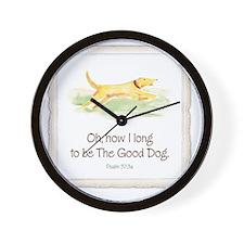 Good Dog-no green-for dark Wall Clock