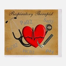 Respirartory Therapist Throw Blanket