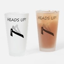 TomahawkBlackHeadsUPcentered Drinking Glass