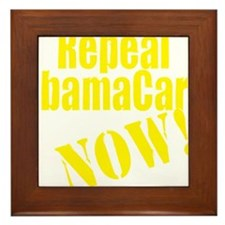 Repeal ObamaCare Now! Framed Tile