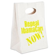 Repeal ObamaCare Now! Canvas Lunch Tote