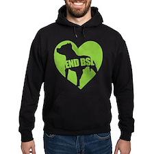 End Bsl (dark, Green Logo) Hoodie