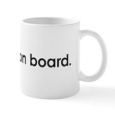 child on board bumper sticker Mug