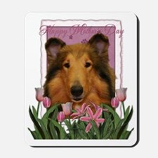 PinkTulips_Collie Mousepad