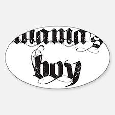 mamas boy Sticker (Oval)