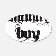 mamas boy Oval Car Magnet