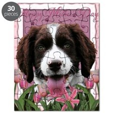 PinkTulips_English_Springer_Spaniel Puzzle