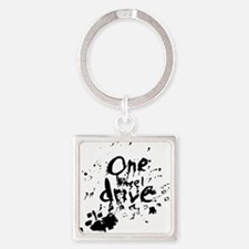 splatter_design Square Keychain