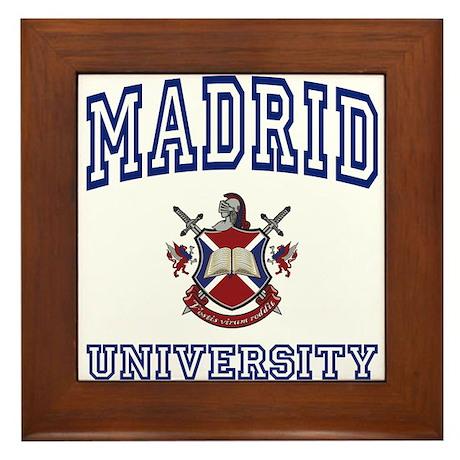 MADRID University Framed Tile