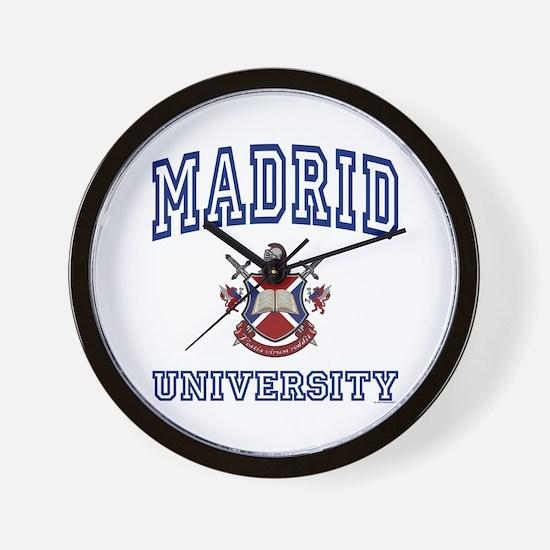 MADRID University Wall Clock