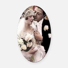 WEDDING COUPLE Oval Car Magnet