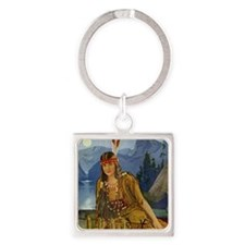 INDIAN MAIDEN Square Keychain