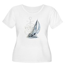 Sailing Boat Plus Size T-Shirt