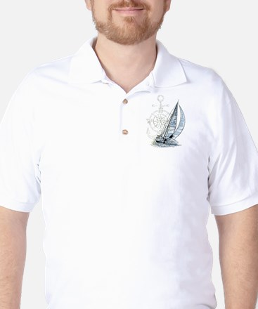 Sailing Boat Golf Shirt