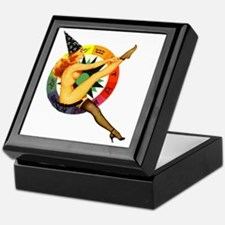 astrolgy-girl-square Keepsake Box