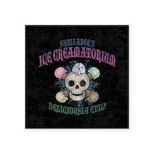 """ice-creamatorium2-BUT Square Sticker 3"""" x 3"""""""