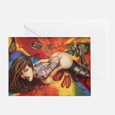 Trippy Skulls2 Greeting Card