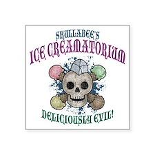 """ice-creamatorium2-T Square Sticker 3"""" x 3"""""""