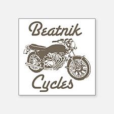 "Beatnik cycles Square Sticker 3"" x 3"""