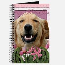 PinkTulips_Golden_Retriever Journal