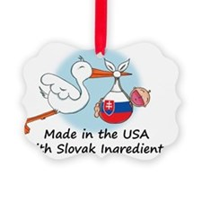 stork baby slov 2 Ornament