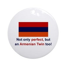 Perfect Armenian Twin Ornament (Round)