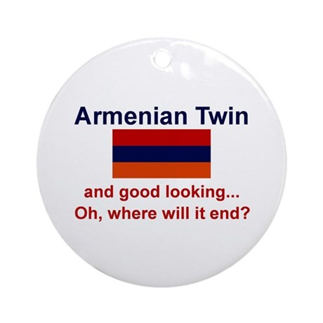 Good Looking Armenian Twin Ornament (Round)