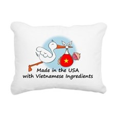 stork baby vt 2 Rectangular Canvas Pillow