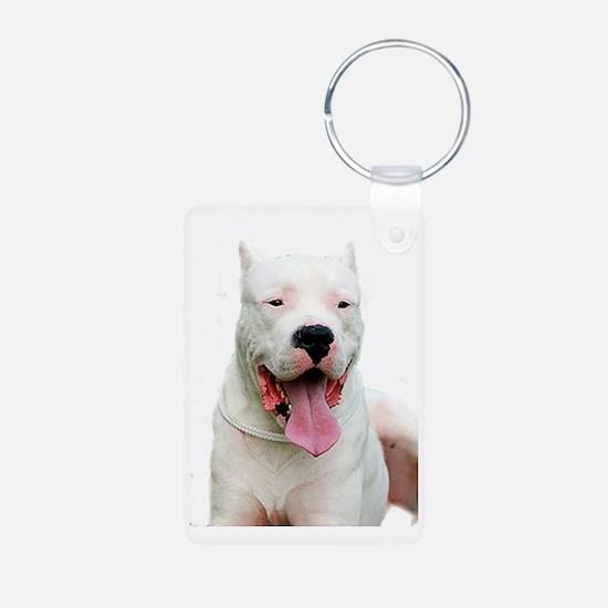 Dogo_Argentino Aluminum Photo Keychain