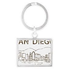 San Diego1 Landscape Keychain