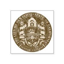 "San Diego Seal 2 Square Sticker 3"" x 3"""