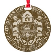 San Diego Seal 2 Ornament