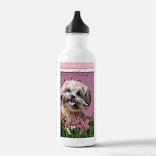 PinkTulips_ShihPoo Water Bottle