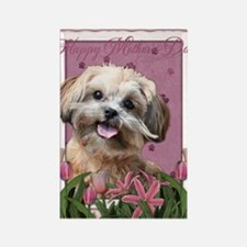 PinkTulips_ShihPoo Rectangle Magnet