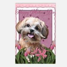 PinkTulips_ShihPoo Postcards (Package of 8)