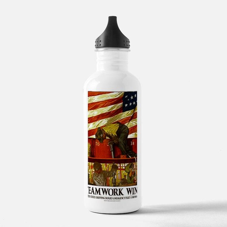 WW II TEAMWORK Water Bottle