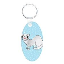 Silver Ferret Blue Star Keychains