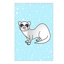 Silver Ferret Blue Star Postcards (Package of 8)