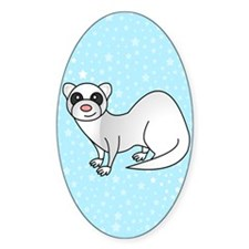 Silver Ferret Blue Star Decal