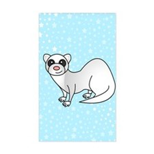 Silver Ferret Blue Star Decal