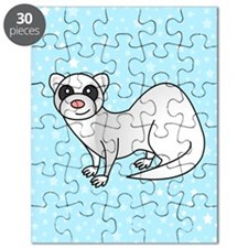 Silver Ferret Blue Star Puzzle
