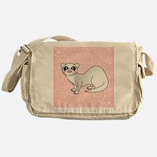 Silver Ferret Pink Star Messenger Bag