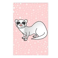 Silver Ferret Pink Star Postcards (Package of 8)