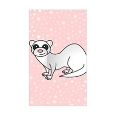 Silver Ferret Pink Star Decal