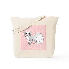 Silver Ferret Pink Star Tote Bag