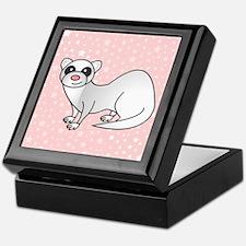 Silver Ferret Pink Star Keepsake Box