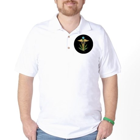 CPCaduceusLeafLogoPLAINRoundEar Golf Shirt