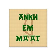 """AnkhEmMaatSQU Square Sticker 3"""" x 3"""""""