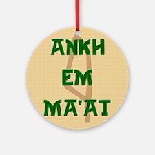 AnkhEmMaatSQU Round Ornament