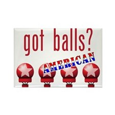 AmericanBalls_dark_crop Rectangle Magnet